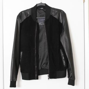 Zara Genuine Suede and Leather Jacket